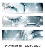 abstract metal banners set  ... | Shutterstock .eps vector #132501020