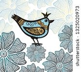 beautiful bird. vector...   Shutterstock .eps vector #1325020973