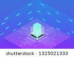 futuristic microprocessor... | Shutterstock .eps vector #1325021333