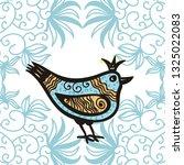 beautiful bird. vector...   Shutterstock .eps vector #1325022083