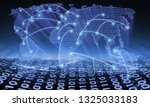 network business connection... | Shutterstock . vector #1325033183