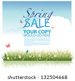 spring sale background template.... | Shutterstock .eps vector #132504668