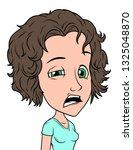 cartoon brunette tired girl... | Shutterstock .eps vector #1325048870