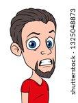 cartoon crazy brunette boy... | Shutterstock .eps vector #1325048873