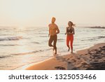 handsome caucasian man and... | Shutterstock . vector #1325053466