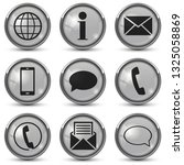 round buttons with contact... | Shutterstock .eps vector #1325058869