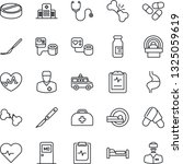 thin line icon set   bed vector ... | Shutterstock .eps vector #1325059619