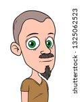 cartoon bald boy character with ... | Shutterstock .eps vector #1325062523