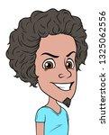 cartoon brunette evil boy... | Shutterstock .eps vector #1325062556