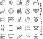 thin line icon set   office... | Shutterstock .eps vector #1325064719