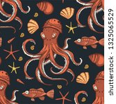 sea seamless vector pattern....   Shutterstock .eps vector #1325065529
