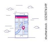 navigation application on...   Shutterstock .eps vector #1325076149