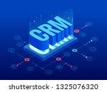 isometric crm web banner....   Shutterstock .eps vector #1325076320