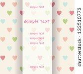 retro invitation card with... | Shutterstock .eps vector #132510773