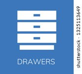 drawers icon. editable ... | Shutterstock .eps vector #1325113649
