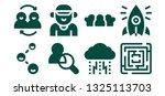 relationship icon set. 8 filled ... | Shutterstock .eps vector #1325113703