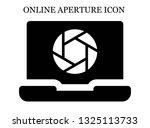 online shutter icon. editable... | Shutterstock .eps vector #1325113733