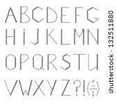 abc   original alphabet made of ... | Shutterstock . vector #132511880