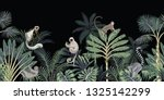 tropical night vintage floral... | Shutterstock .eps vector #1325142299