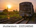 vintage railroad tracks | Shutterstock . vector #1325148560