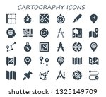 cartography icon set. 30 filled ...   Shutterstock .eps vector #1325149709