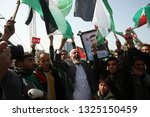 palestinians angry during... | Shutterstock . vector #1325150459