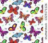 beautiful butterflies pattern.... | Shutterstock .eps vector #1325171126
