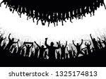 cheering crowd people... | Shutterstock .eps vector #1325174813