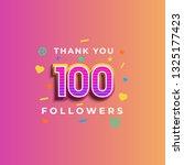 thank you 100 followers design... | Shutterstock .eps vector #1325177423
