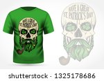 hand drawn angry skull of... | Shutterstock .eps vector #1325178686
