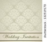 elegant royal wedding card with ... | Shutterstock .eps vector #132519170