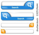 two types of search bar design. ... | Shutterstock .eps vector #132519644