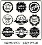 collection of bicycle badges in
