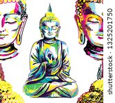 buddha seamless pattern....   Shutterstock .eps vector #1325201750