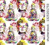 buddha seamless pattern....   Shutterstock .eps vector #1325201753