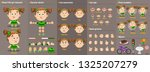 cartoon redheaded girl... | Shutterstock .eps vector #1325207279