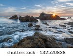 Rocky Coastal Sunset Seascape...