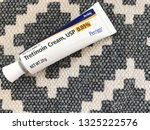 Small photo of New Orleans, LA - February 27, 2019: Tretinoin face cream for acne or anti aging 0.05%