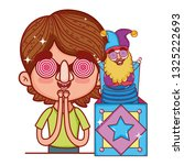 little boy with fools day... | Shutterstock .eps vector #1325222693