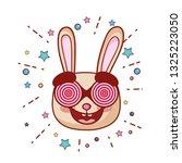 rabbitt crazy with glasses... | Shutterstock .eps vector #1325223050