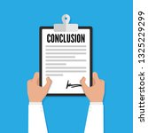 conclusion doctor vector... | Shutterstock .eps vector #1325229299