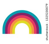 cute rainbow weather icon | Shutterstock .eps vector #1325230079