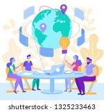 cartoon flat virtual world... | Shutterstock .eps vector #1325233463