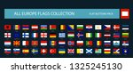 all europe flags round... | Shutterstock .eps vector #1325245130