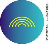 vector rainbow icon    Shutterstock .eps vector #1325251886
