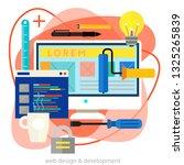 webdesign and development... | Shutterstock .eps vector #1325265839