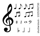 set of musical notes and... | Shutterstock .eps vector #1325290730
