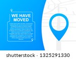 we have moved. moving office... | Shutterstock . vector #1325291330