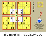 logic sudoku puzzle game for... | Shutterstock .eps vector #1325294390