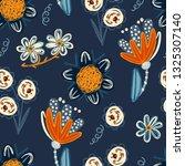floral seamless pattern. hand... | Shutterstock .eps vector #1325307140